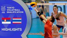 SERBIA vs. THAILAND – Highlights Women | Volleyball Olympic Qualification 2019
