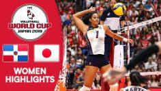 DOMINICAN REPUBLIC vs. JAPAN – Highlights | Womens Volleyball World Cup 2019